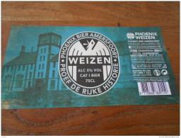 BIERETIKET PHOENIX BEER AMERFOORT WEIZEN - Beer
