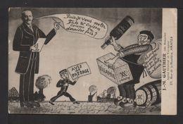 """CPA Rare . PUB Illustrant Avec Humour L'envoi Des Vins """"VILLAMIL"""" .  J.M GAUTHIER Dit """"DUMOCHE"""". - Autres Illustrateurs"""
