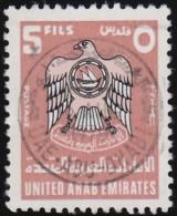 UNITED ARAB EMIRATES - Scott #69 Coat Of Arms / Used Stamp - Verenigde Arabische Emiraten