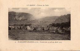 MAROC COLONNE DU TADLA SI ALI BOU BRAHIM EN FEU COMBAT DES 27 28 19 AVRIL 1913 - Morocco