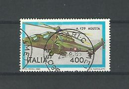 1983 N° 1567  HELICOPTERE A  129 AGUSTA OBLITERE - 6. 1946-.. Republic