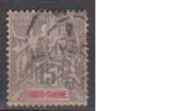 INDOCHINE        N°   19     ( 4 )         OBLITERE         ( O 1843 ) - Oblitérés