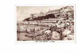 Cpa - 83 - Saint-Raphaël -  La Plage N°12972 Adia Hotel Beau-Séjour Brasserie Bière Lutterbach Animation Baigneurs 1939 - Saint-Raphaël