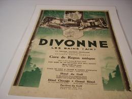 ANCIENNE PUBLICITE  VISITEZ CURE DIVONNE LES BAINS - Advertising