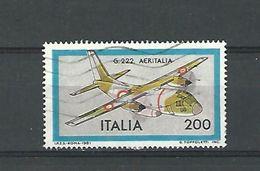 1981 N° 1486  G 222 AERITALIA  OBLITERE - 6. 1946-.. Republic