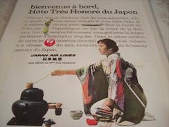 ANCIENNE PUBLICITE  JAPAN AIR LINES - Publicités