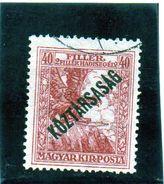 B - 1918 Ungheria - Uccello Mitologica Turul (linguellato) - Ungheria