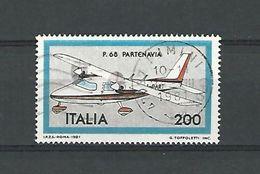 1981 N° 1485  P. 68 PARTENAVIA  24 VIII 1981  OBLITERE - 6. 1946-.. Republic