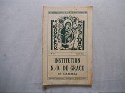 CAMBRAI INSTITUTION NOTRE-DAME DE GRACE LE JONGLEUR DE NOTRE DAME N°46 MARS 1963 - Religion & Esotérisme