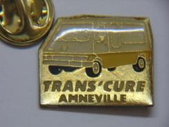 Pin's - Transports - TRANS'CURE - Transport Touristique En Autocar - Navette Pour Curistes à AMNEVILLE - Trasporti