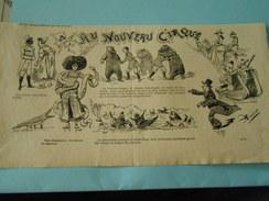 Gravure 1895 - Au Nouveau Cirque Circus Pèle Mèle De Dessins Humour - Prints & Engravings
