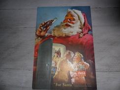 """Lot 6 X Coca Cola ( Tiré Du """" Geographic Magazine """" )   Papier Légère Cartonné 25 X 17 Cm    Sancta Claus      Père Noël - Advertising Posters"""