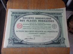 Immobiliere Des PLAGES NORMANDES (imprimerie RICHARD) 1932 - Non Classés