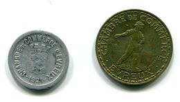 Chambre De Commerce D'Evreux - 1921-1922 - 5 Centimes Et 1 Franc - Monétaires / De Nécessité