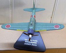 AVION MITSUBISHI A6M3 ZERO War In The Pacific - DIE CAST Modèle Réduit Sur Socle - Luchtvaart