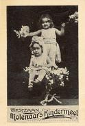 Westzaan, Molenaar Kindermeel, Albumplaatje, 2 Kinderen, 1920's - Reclame