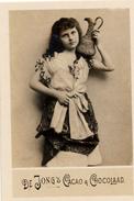 Zaanstreek, Wormerveer, De Jong,  Albumplaatje, Meisje Met Kruik , 1920's - Reclame