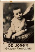 Zaanstreek, Wormerveer, De Jong,  Albumplaatje, Baby Zittend , 1920's - Reclame