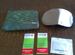 GIVEAWAYS LOT TURKISH AIRLINES & AIRFRANCE. NEW SOCKS,NEW REFRESHING TOWEL,LABELS, New Eye Cover - Giveaways