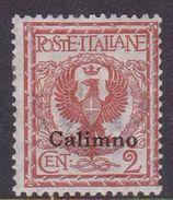 Italy-Colonies And Territories-Aegean-Calino S1  1912 2c Red Brown MH - Aegean (Calino)