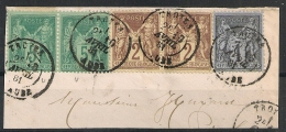 SAGE 3 Couleurs, TROYES Aube Sur Fraguement. - 1876-1898 Sage (Type II)
