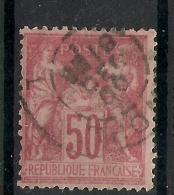 50C SAGE N° 104, Type III. Variété FILET LARGE En Nord. Cote 35 EUR. - 1898-1900 Sage (Type III)