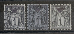 3 SAGE 1C. CENTRAGES PARFAITS Et NUANCES. SUPERBES. - 1876-1898 Sage (Type II)
