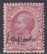 Italy-Colonies And Territories-Aegean-Calino S3  1912 10c Rose Used - Aegean (Calino)