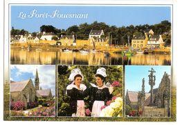 La Foret-fouesnant (29) Le Port ,l'eglise Notre Dame D'izel-vor , La Coiffe Et Le Costume Traditionnels,le Calvaire Et - Fouesnant