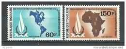 """Togo Aerien YT 434 & 435 (PA 434 & 435) """" Droits De L´Homme """" 1980 Neuf** - Togo (1960-...)"""