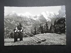 CP SUISSE (V1708) Alphornbläser Mit Eiger, Mönch U. Jungfrau (2 Vues) - Suisse
