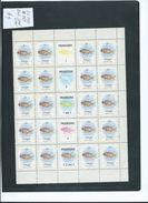 Tonga 1984 Marine Life Definitives 3s Fish Sheet Of 20 With Gutters & Some Margins MNH - Tonga (1970-...)