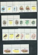 Tonga 1984 Marine Life Definitives 7 Different Pairs To $1 Coral With Labels MNH Specimen Overprint - Tonga (1970-...)