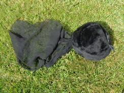 Chapeau De Deuil Avec Crepe Pour Reconstitution - Vintage Clothes & Linen