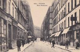 PARIS CPA Editeur GONDRY N° 641  Rue SEDAINE Animée COMMERCES - Distretto: 11