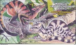 Malaysia 2000 S#809 Protected Mammals M/S MNH Fauna - Malaysia (1964-...)