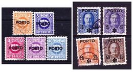 Österreich 1917 &1946, Portomarken, Satz - Portomarken