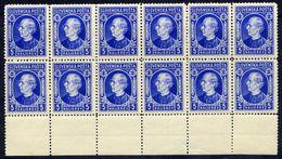 SLOVAKIA 1939 Hlinka Definitive 5 H Block Of 12 MNH / ** .  Michel 35A - Neufs
