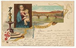Gruss Color Ricordo Di Firenze  Litho A. Meozzi No 1077 Used 1902 - Firenze (Florence)