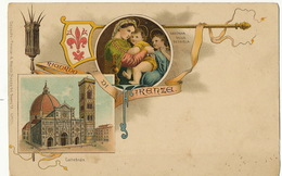 Gruss Color Ricordo Di Firenze  Litho A. Meozzi No 1078 - Firenze (Florence)