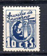 Viñeta Nº 21  Auxilio De Invierno  Leon. - Viñetas De La Guerra Civil