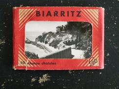 BIARRITZ - PYRENEES ATLANTIQUES - CARNETS DE 10 PHOTOS - EDITION CAP - Biarritz