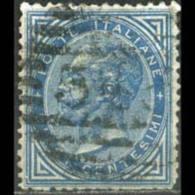ITALY 1877 - Scott# 28 King Blue 10c Used - 1861-78 Vittorio Emanuele II