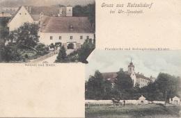 Litho Gruss Aus KATZELSDORF Bei Wr.Neustadt (NÖ) - Karte Gel.190?, Rückseitig Klebespuren - Otros