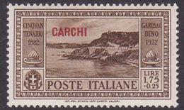 Italy-Colonies And Territories-Aegean-Carchi S 24 1932 Garibaldi Lire 1,75+25c Brown MNH - Aegean (Carchi)