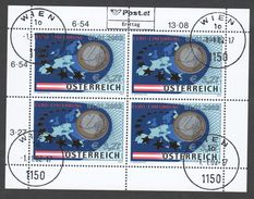 """Österreich 2002: Kleinbogen Ersttag Lose """"Euro-Einführung"""" """"  (siehe Foto/ Scan) - 2001-10 Gebraucht"""