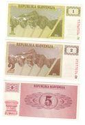 Slovenia Set 3 UNC Banknotes - Slovénie