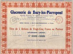 VP10.601 - BUCY LES  PIERREPONT 1924 - Action - Glucoserie De BUCY LES  PIERREPONT - Agriculture