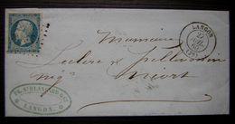 1860 Langon Gironde, Lettre De La Société Blancard Pour Niort Voir Photos - Marcophilie (Lettres)