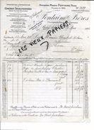 27 - Eure - BOURG-ACHARD - Facture FONTAINE - Graines Sélectionnées - 1925 - REF 73A - France